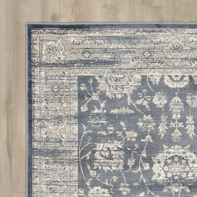 Driffield Dark Grey / Cream Area Rug Rug Size: Rectangle 4 x 57