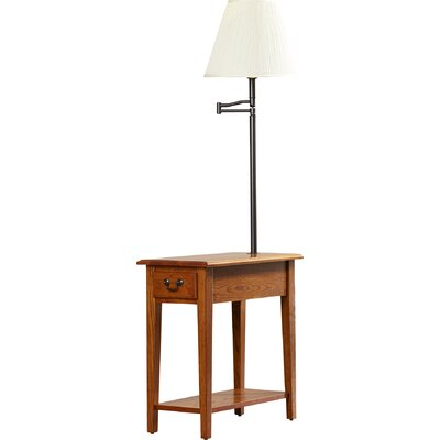 Apple Valley Chairside Lamp End Table Finish: Medium Oak