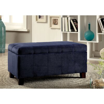 Roselawn Upholstered Storage Entryway Bench Color: Navy
