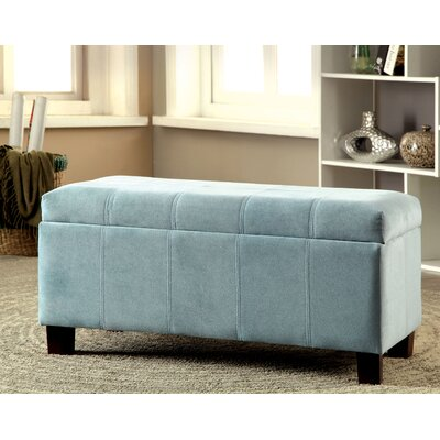 Roselawn Upholstered Storage Entryway Bench Color: Blue
