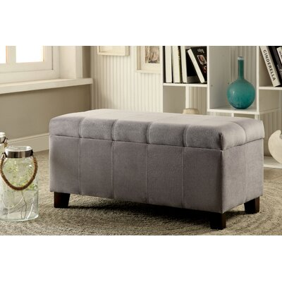 Roselawn Upholstered Storage Entryway Bench Color: Gray