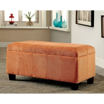 Roselawn Upholstered Storage Entryway Bench Color: Orange