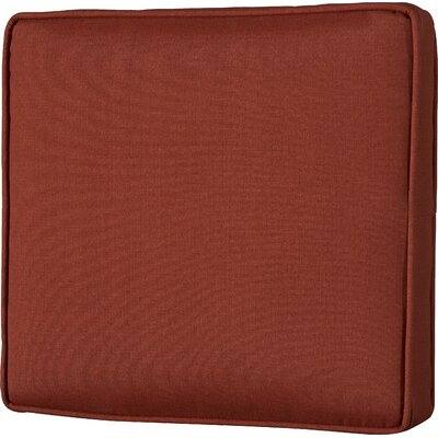 Outdoor Lounge Chair Cushion Fabric: Husk Texture Brick