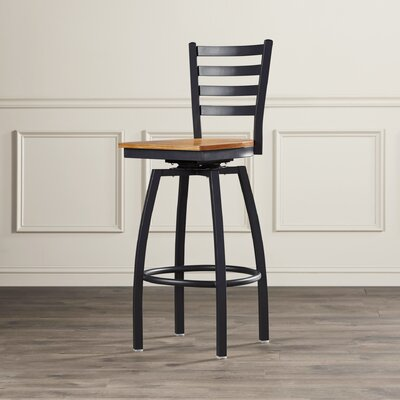 Alhambra 30.25 Swivel Bar Stool Seat Finish: Natural