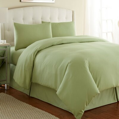Cosima 3 Piece Duvet Cover Set Size: King / California King, Color: Sage Green