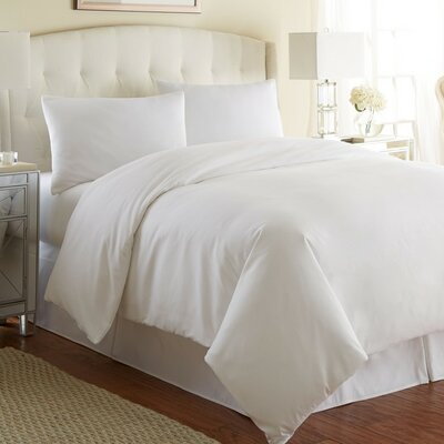 Cosima 3 Piece Duvet Cover Set Color: Bright White, Size: Full/Queen