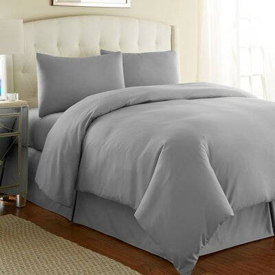 Cosima 3 Piece Duvet Cover Set Size: Full / Queen, Color: Steel Gray