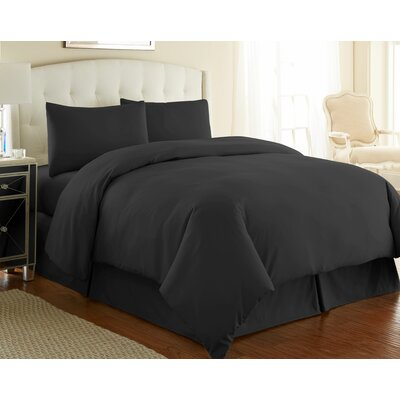 Cosima Cover Set Size: King / California King, Color: Black