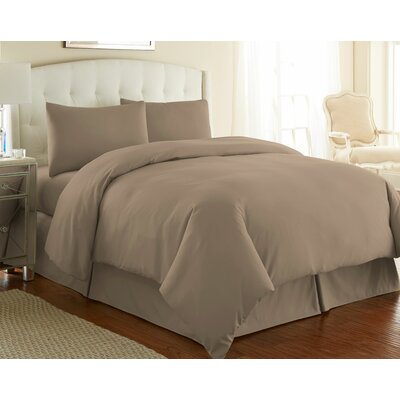 Cosima 3 Piece Duvet Cover Set Size: Full / Queen, Color: Taupe