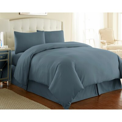 Cosima 3 Piece Duvet Cover Set Size: King / California King, Color: Steel Blue