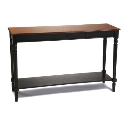 Carlisle Console Table with Bottom Shelf Top Finish: Cherry