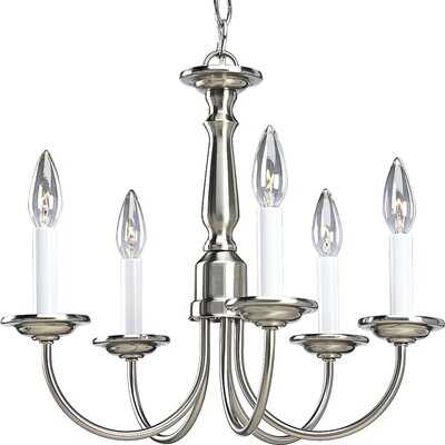 Francesville 5-Light Candle-Style Chandelier Finish: Brushed Nickel