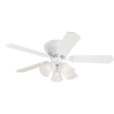 42 Magnolia 5-Blade Ceiling Fan Finish: White with White / White Washed Pine Blades