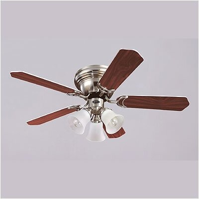 42 Magnolia 5-Blade Ceiling Fan Finish: Brushed Nickel with Rosewood / Maple Blades
