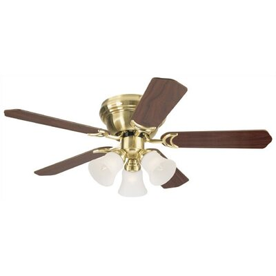 42 Magnolia 5-Blade Ceiling Fan Finish: Antique Brass with Oak / Walnut Blades