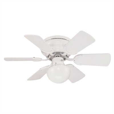30 Magnolia 6-Blade Ceiling Fan Finish: White with White / White Washed Pine Blades