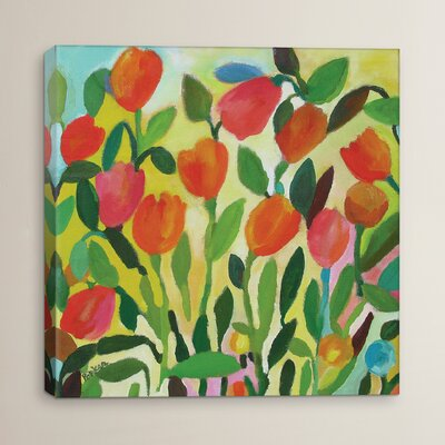 Tulip Garden Painting Print on Canvas