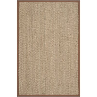 Alberta Natural/Light Brown Contemporary Area Rug Rug Size: 4 x 6