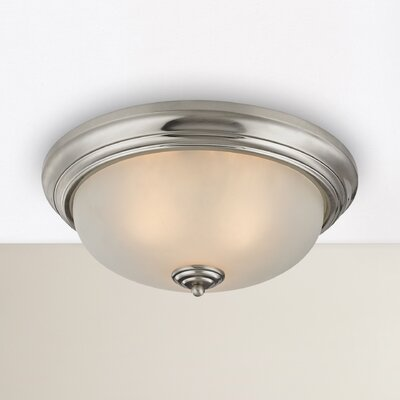 Milwaukee 3-Light Flush Mount Finish: Brushed Nickel