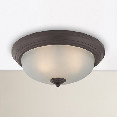 Centralhatchee 3-Light Flush Mount Shade Color: White