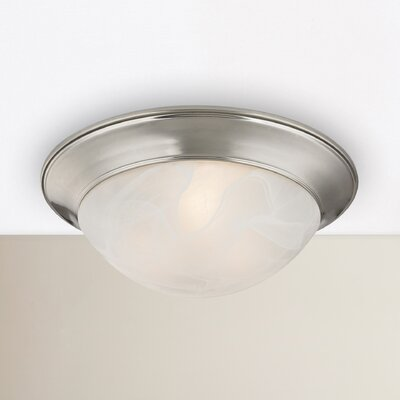 Little Rock 2-Light Flush Mount Finish: Brushed Nickel