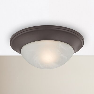 Racine 1-Light Flush Mount Finish: Oil Rubbed Bronze