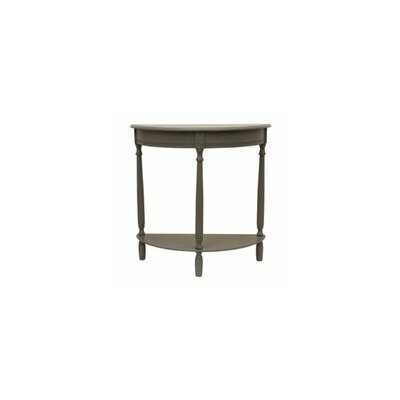 Wedgewood Half Moon Console Table Finish: Eased edge gray