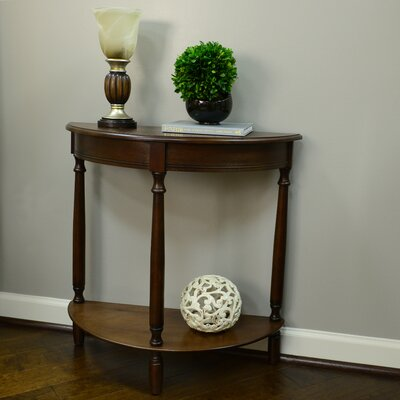 Wedgewood Half Moon Console Table Finish: Walnut