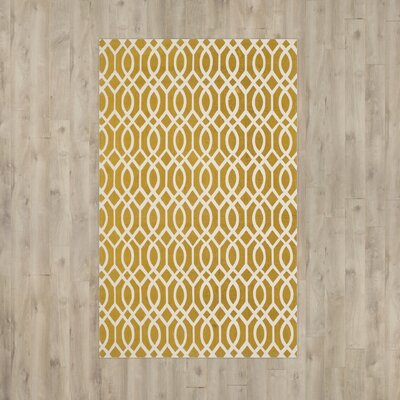 Warner Robins Hand Woven Citron/Ivory Area Rug Rug Size: 5 x 8