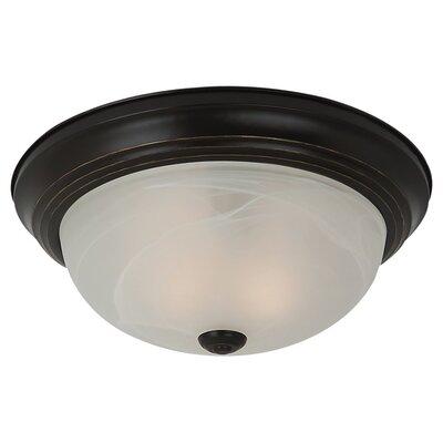 Hartford 1-Light Flush Mount Finish: Heirloom Bronze, Bulb Type: 13W GU24 Fluorescent
