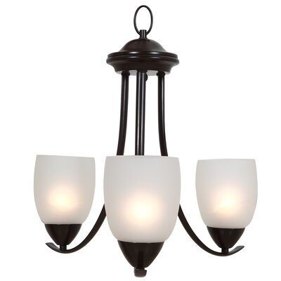 Monrovia 3-Light Shaded Chandelier Finish: Oil Rubbed Bronze