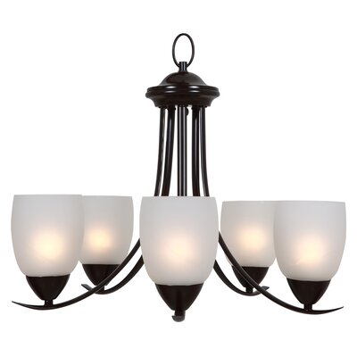 Monrovia 5-Light Shaded Chandelier Finish: Oil Rubbed Bronze