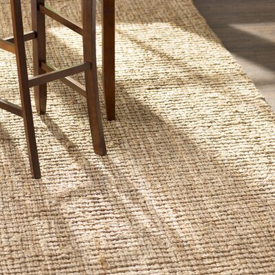 Gaines Hand-Woven Natural Area Rug Rug Size: Runner 26 x 18