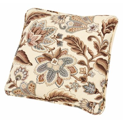 Fulton Floral Print Toss Throw Pillow Color: Linen