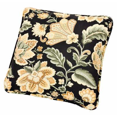 Fulton Floral Print Toss Throw Pillow Color: Black