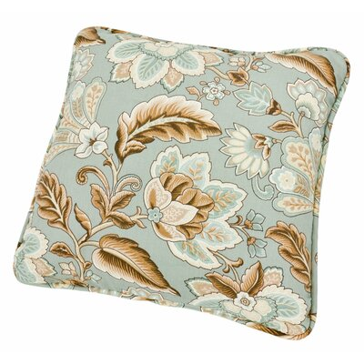 Fulton Floral Print Toss Throw Pillow Color: Spa