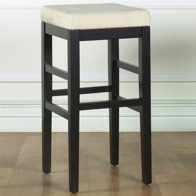 Plymouth 26 Bar Stool Upholstery: Beige Microfiber