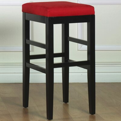 Plymouth 26 Bar Stool Upholstery: Red Microfiber
