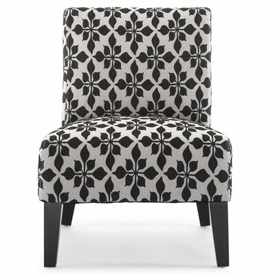 Portland Danville Slipper Chair Upholstery: Black