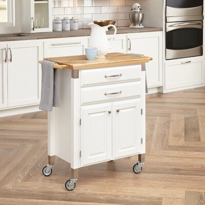 Hamilton Kitchen Island with Wood Top Base Finish: White