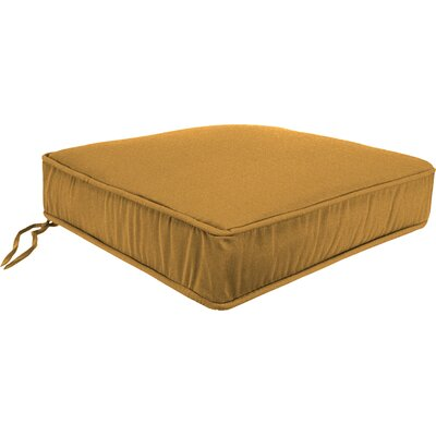 Outdoor Lounge Chair Cushion Fabric: Husk Texture Ginger