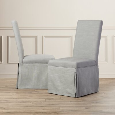 Lamb Dining Chair (Set of 2) Upholstery: Grey