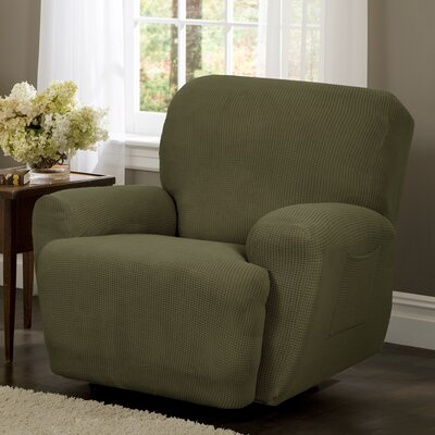 T-Cushion Recliner Slipcover Set Color: Dark Sage
