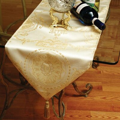 Fairmount Table Runner Color: Beige, Size: 70