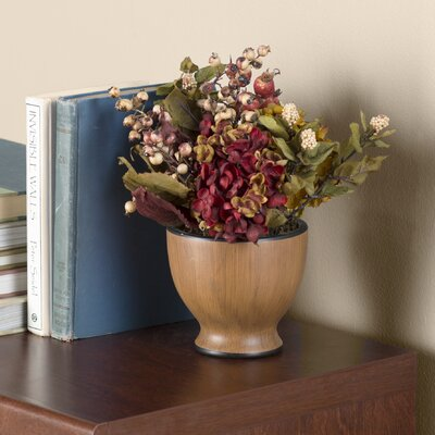 Hopton Autumn Hydrangea Arrangement with Round Vase