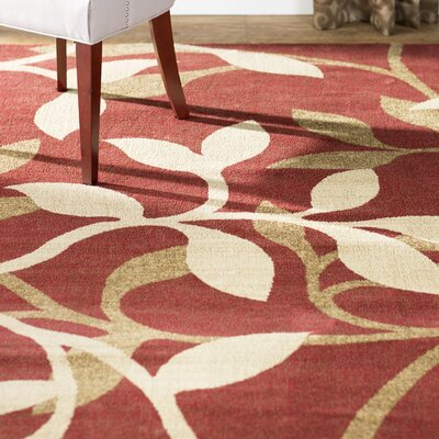 Gaskins Burgundy/Tan Area Rug