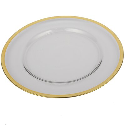 Glass Charger Rim Plate