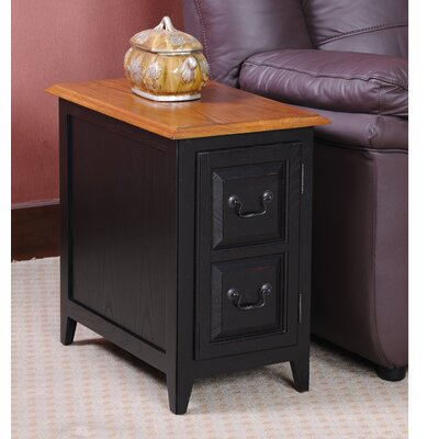 Apple Valley End Table With Storage Color: Slate