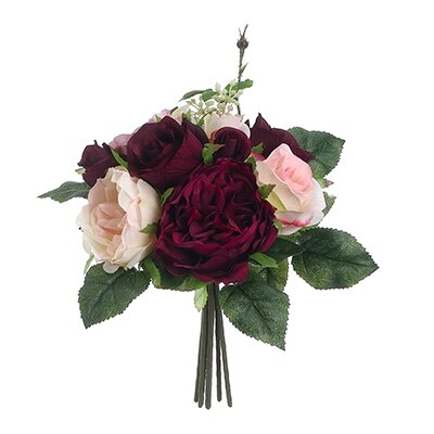 Rose Bouquet Color: Burgundy / Mauve