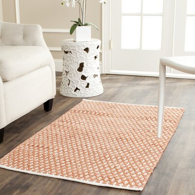 Amicus Hand-Tufted Orange Area Rug Rug Size: 5 x 8
